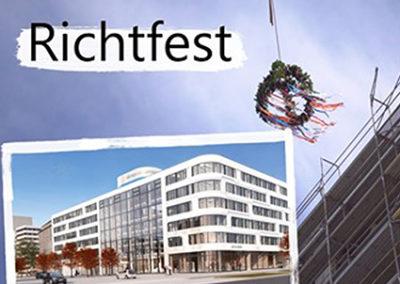 Virtuelles Richtfest Neubau eins energie in Sachsen am Johannisplatz in Chemnitz