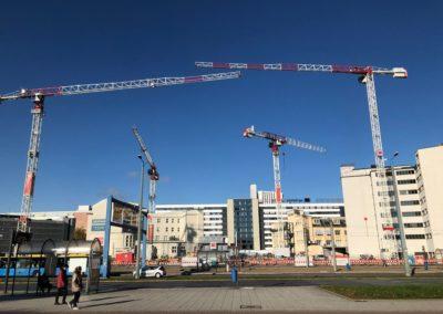 Die Baustelle eins energie in Sachsen weitet sich aus
