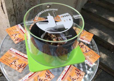 Die Küchwaldbühne besitzt eine neue Spendenbox