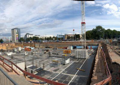 Der Neubau des Bürogebäudes eins energie in Sachsen schreitet voran