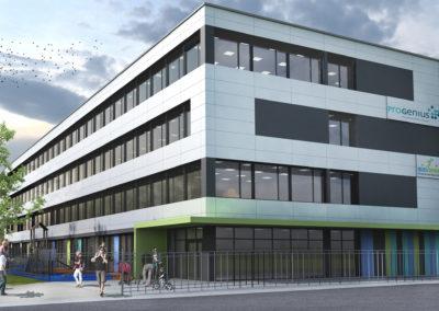 """Neubau Privatschule und Kindertagesstätte """"Genius-Campus"""" Offenbach"""